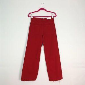 Zara Jeans - NWT Zara Red High Rise Cropped Jeans 2